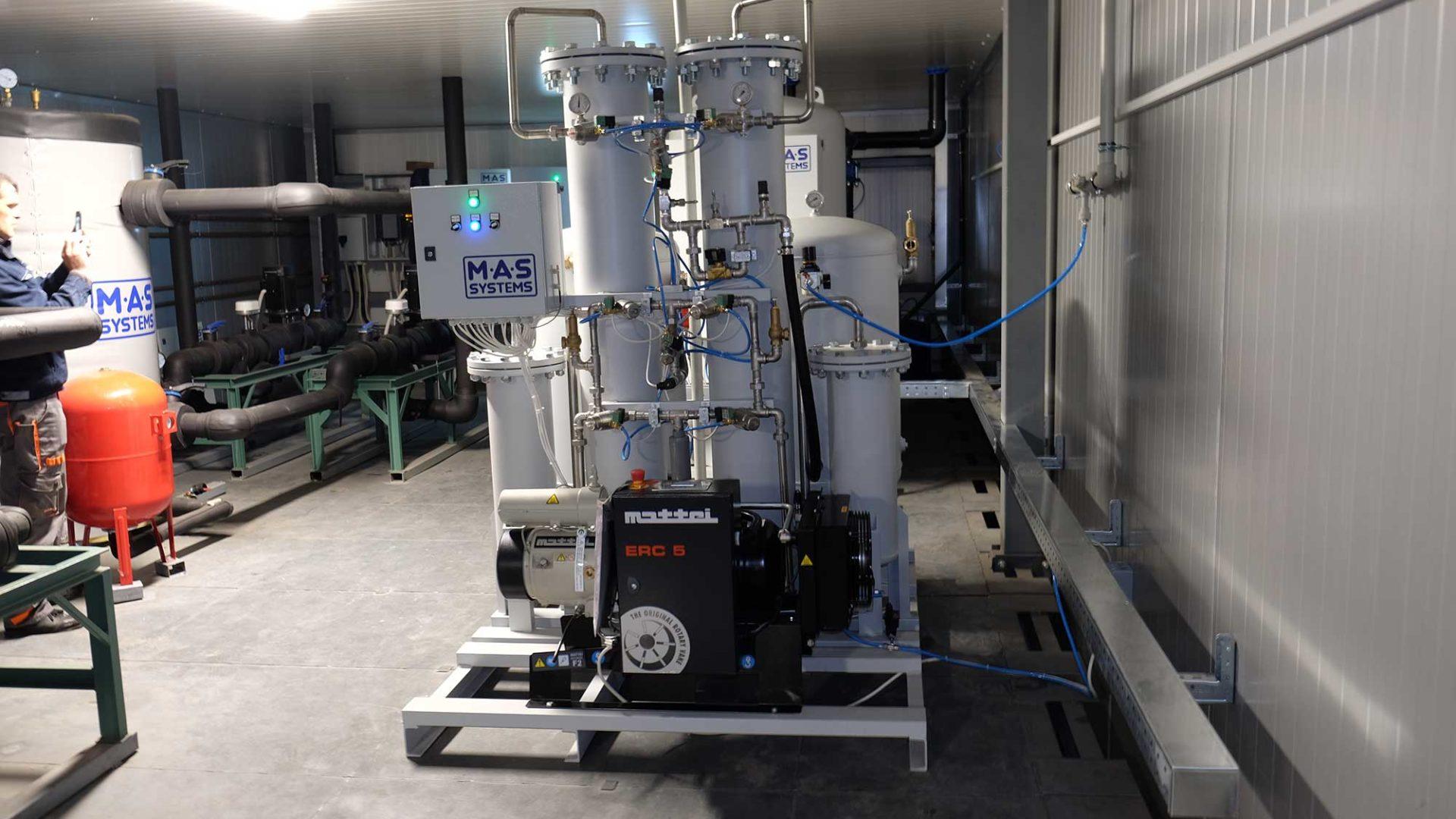 Установка генераторов азота и азотных станций