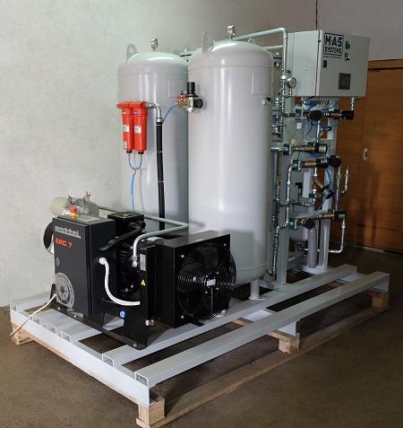 Готовим к отгрузке очередной генератор азота MAS-GN-29 для обеспечения технологического процесса производства пива